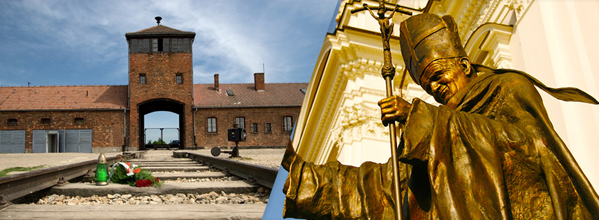 Auschwitz-Birkenau e Itinerari di Papa Giovanni Paolo II..
