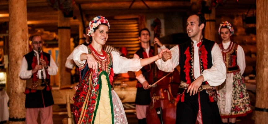 Polish Folk Dance During folk show tour