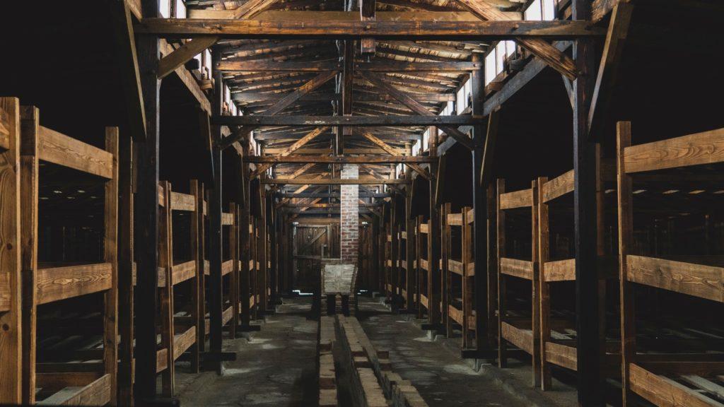Inside the Auschwitz barracks