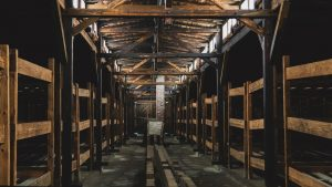 Inside the Auschwitz barracks