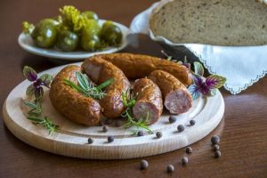 Traditional Polish food - kielbasa