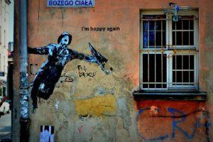 Krakow street art - I'm happy again