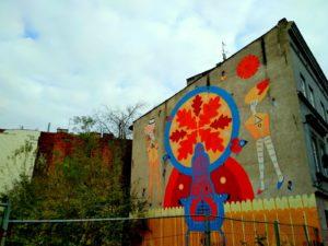 Podgorze Krakow mural