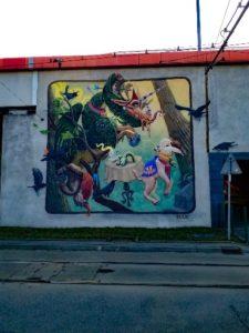Krakow street art - Dragon