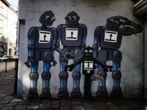 Krakow street art - the robots