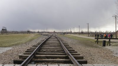 Railway track - Auschwitz facts in numbers