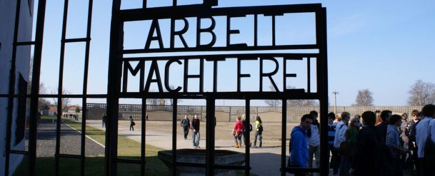 Auschwitz gate in Sachsenhousen in Germany