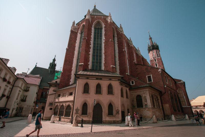 St Mary s Basilica - the main point at all Krakow maps
