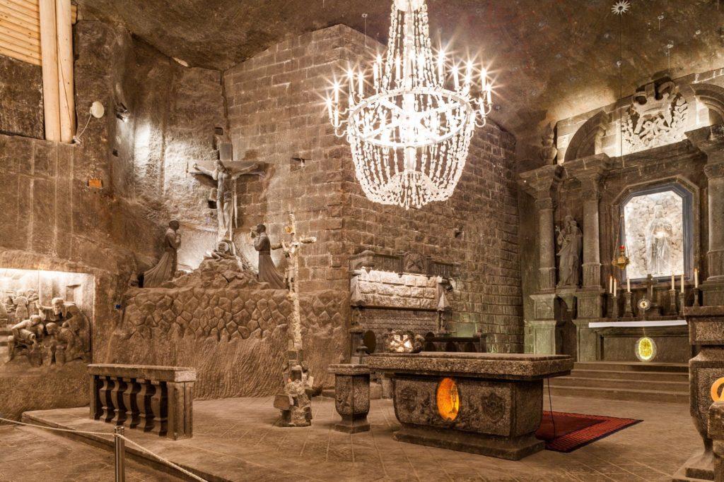 St kinga chapel krakow salt mine