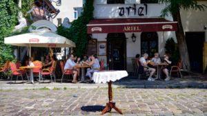 Ariel in Krakow Jewish Quarter
